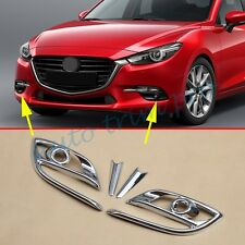 Chrome Front Head Fog Light Lamp cover Trim For Mazda3 Axela 2017 Accessories 4X