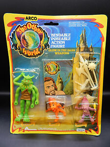 1983 vintage Arco OTHER WORLD figure set HONDU mip monsters MOC sealed toy RARE!