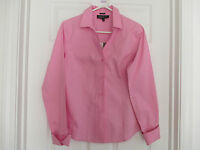 NWT JONES NEW YORK EASY CARE SIZE 4 NEW PINK DOUBLE CUFF TOP RETAIL $74.00
