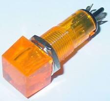 Signal éclairage, signal lampe jaune, 12mm rectangulaire, coiffe étanche, 12vdc, d72