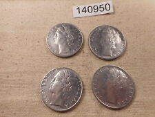 1957 R, 1956 R, 1959 R, + 1958 R Italy 100 Lire Four Collector Coins - # 140950