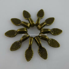 11897 50PCS Bronze Tone Oval Glue on Bails Setting Pendant FOR Necklace Finding