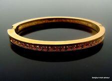 ROMAN signierter Designer Strass Armreif, Bracelet, Bracciale, oval