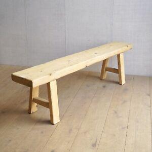 Vintage Chunky Pine Bench