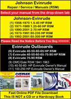Johnson Evinrude, OMC/Gale, Repair Manuals, Service Manuals, Operator Manuals