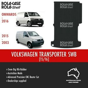 Volkswagen Transporter SWB Genuine Big Rib Rubber Cargo Van Flooring 5mm CNC Cut