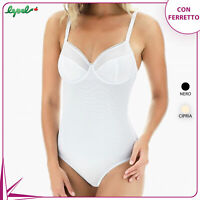 BODY LEPEL 404 CON FERRETTO IN TULLE COPPA C e D
