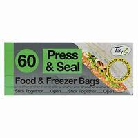 Prensa Y Comida Sello Congelador Bolsas 60 Extrafuerte Reutilizable 17 X 20.5CM