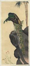 UW»Estampe japonaise réédition -  Hiroshige IV  - paon 16