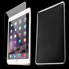 TPU Cover für iPad Air 2 Tasche Hülle Silikon Schutzhülle + Panzer Glas Folie