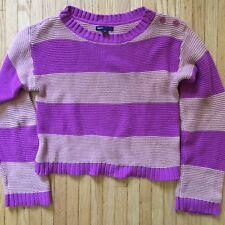 GapKids Girls Striped  Long Sleeve Sweater. Sz. Xl (12) Purple/tan $29.99 GAP