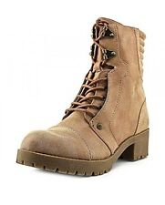 NEW G by GUESS Dark Natural Tan Meats Moto Combat Boots Women's US Size 9M