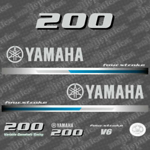 Yamaha 250 4 Stroke HP Decal Kit Outboard Engine Graphic 250hp Sticker USA MADE