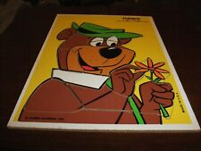 "VTG-PLAYSKOOL YOGI ""BETTER THAN THE AVERAGE BEAR"" 14 PC WOODEN PUZZLE 1980"