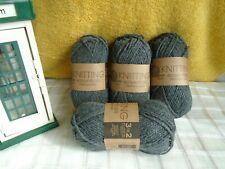 Knitting Essentials Job Lot 4 x 50g Aran Wool - Grey