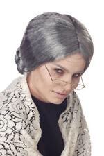 Adult Grandma Grey Wig for Halloween Costume