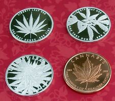 legalize it 1oz .999 Silver Marijuana cannabis pot weed 3 silver & 1 copper