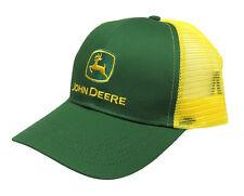 JOHN DEERE LOGO CAP GREEN WITH YELLOW MESH BACK NEW