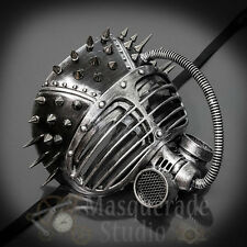 Mens Steampunk Gas Mask Halloween Costume Theater Masquerade Mask [Silver]