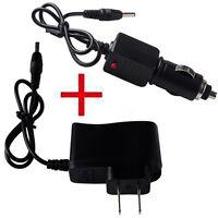 AC Car EU Plug Charger USB Adapter USB Data Cable for 18650 Flashlight Headlamp