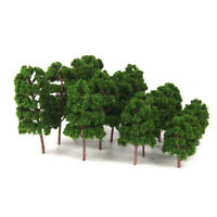 20x Train Layout Model Trees 1:75-200 HO N Scale Park Forest Diorama Scenery