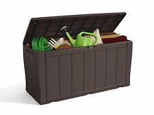 Storage Box Patio Chest Bench Seat Outdoor Garden Plastic Utility Shed Furniture