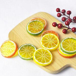 6Pcs/Set Artificial Fruit Christmas Decoration Cheap Fake Plants Lemon Slice^qi