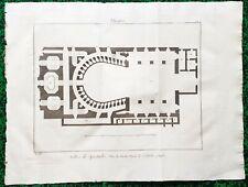 XVIII ème - ITALIE - Naples - Rare Plan n° 1 Théâtre Royal St Charles 57x43 1776