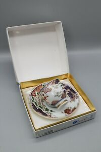 Kisen Collection Imari-style tea cup and saucer in original box, made in Japan