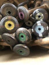 More details for 40 vintage wooden industrial textile bobbins factory cotton  spools- 7