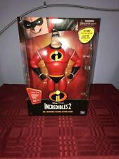 "Disney Pixar INCREDIBLES 2 MR. INCREDIBLE 13"" tall talking figure Think Way"