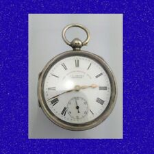 Stunning Silver J G Graves of Sheffield Non-Fusee LWC Lever Pocket Watch 1897