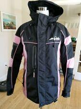HMK Women's Black Pink  Motorcycle Snowmobile Outdoor Hooded Jacket Size Meduim