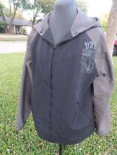 Vans Hoodie Zip-Front mesh inside Grey/Black Wind Breaker Size L