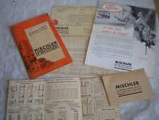 Vintage catalogue 1952 Mischler garage doors window shutters grills french