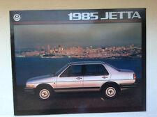 Vintage 1985 Volkwgwagen JETTA brochure Specs Opions etc. pamphlet MINT