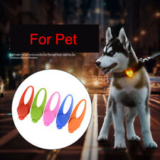 Pet Dog Cat Puppy Flashing Collar Safety Night Light Pendant Ellipse Silica Gel