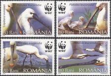 Romania 2006 WWF/spatola/in pericolo Birds/NATURA/conservazione 4 V Set (n16427)