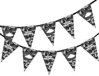 Happy Birthday Grey Army Camouflage - Military Tank Bunting Banner 15 flags