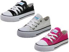 Chaussures moyens à lacets en toile pour fille de 2 à 16 ans