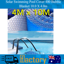 Swimming Pool Cover 400 Micron Silver Solar Outdoor Bubble Blanket 10.0 X 4.0m