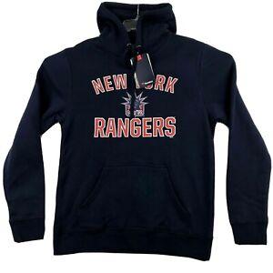Fanatics New York Rangers NHL Mens Sweatshirt Hoodie Size L Blue NWT