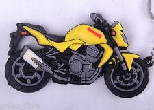 Kawasaki Z750 Z1000 jaune Porte-clés Anneau Chaîne Keyfob moto gaz d'échappement du moteur 3D