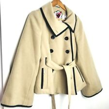 Red Or Dead Womens Uk 10 12 Camel Bell Sleeved Double Breasted Unique Coat