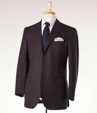 NWT $7295 KITON NAPOLI Chocolate Herringbone Cashmere-Cotton Suit 42 R (Eu 52)