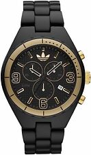 New Adidas Cambridge Chrono Black Acrylic Band Date Men Watch 45 mm ADH2577 $150