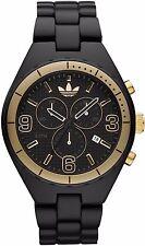 New Adidas Cambridge Chrono Black Acrylic Band Date Men Watch 45 mm ADH2577 $150