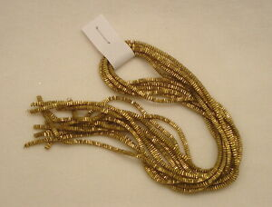 Authentic German Metal Bullion LG. Crinkle Wire Tinsel Gold Christmas Ornament