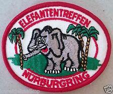 Vintage Sew-on Patch Nurburgring Elefantentreffen