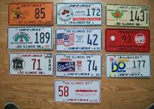 LOT of 10 ILLINOIS SPECIAL EVENT LICENSE PLATES 1989-08  FESTIVAL / CIVIC THEMES
